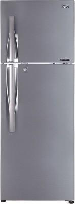 LG 260 L Frost Free Double Door 2 Star Refrigerator Dazzle Steel, GL N292RDSY LG Refrigerators
