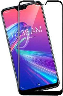 onlinecart Edge To Edge Tempered Glass for Asus Zenfone Max Pro M2, asus zenfone max pro m2 tempered glass full glue black(Pack of 1)