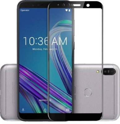 Classy Edge To Edge Tempered Glass for asus zenfone max pro m2 tempered glass full glue black, Asus Zenfone Max Pro M2(Pack of 1)