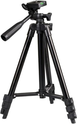 LIFEMUSIC Flexible Aluminum Tripod Stand With Bubble Level For Smartphones, Cameras And Video Cameras Tripod(Black, Supports Up to 1500 g) 1