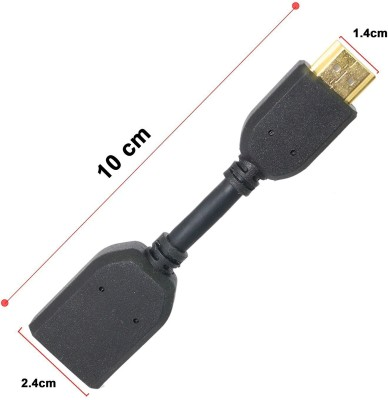 TechGear Google TV HDMI 22CM Male to Female Extender Extension Wire Lead Cable Laptop Accessory Black