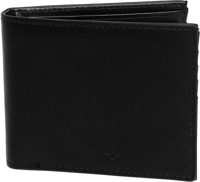 ALDO Men Casual Black Artificial Leather Wallet(12 Card Slots)