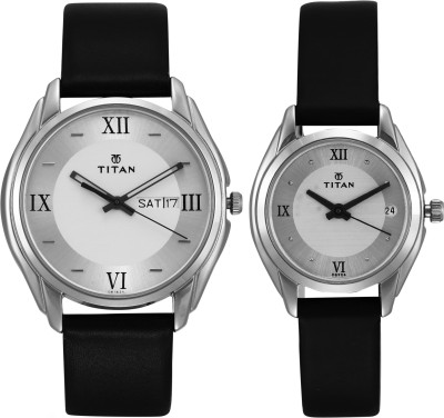 Titan NH15782489SL03 Bandhan Analog Silver Dial Couple Watch (NH15782489SL03)