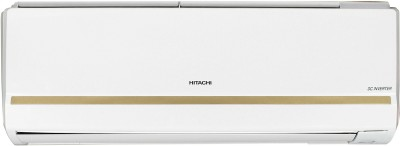 View Hitachi 1 Ton 5 Star Split Inverter AC  - White, Gold(RSFG512HCEA, Copper Condenser)  Price Online
