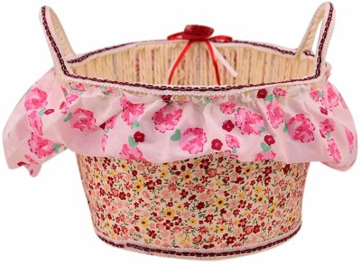 ZEVORA Beautiful Floral Multipurpose Storage Baskets for Gift, Cosmetics, Chocolates, Biscuits, Stationery Steel Fruit & Vegetable Basket(Multicolor) at flipkart