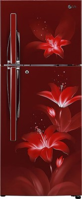 LG 260 L Frost Free Double Door 3 Star Refrigerator(Ruby Glow, GL-C292RRGY) at flipkart