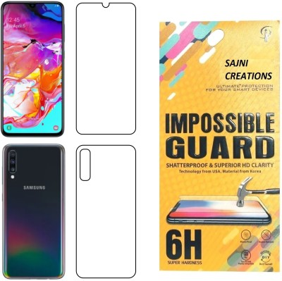 Sajni Creations Front and Back Screen Guard for Samsung Galaxy A50(Pack of 1)