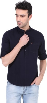 Risque Men Solid Casual Blue Shirt