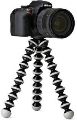 MobFest Gorilla tripod Octopus Style and Telescopic Tripod Portable and adjustable Tripod Stands Tripod Kit(White, Black, Supports Up to 1500 g) 1