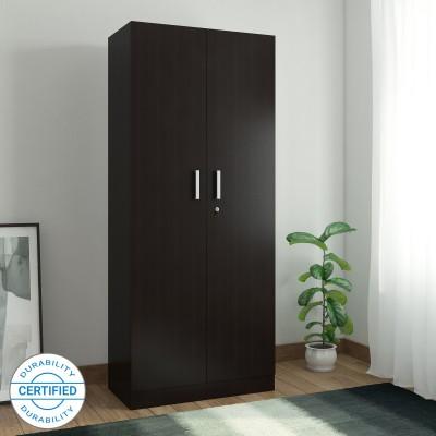 Spacewood Optima Engineered Wood 2 Door Wardrobe(Finish Color - Natural Wenge)