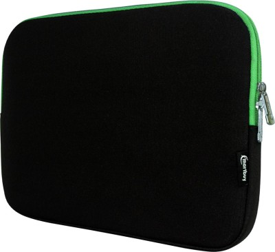 Emartbuy Sleeve for Dell Inspiron 13 7000 Series 2-in-1 Laptop(Black/Green Two Tone)