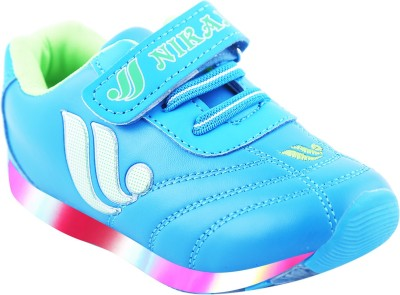 LNG Lifestyle Boys & Girls Velcro Dancing Shoes(Light Blue)