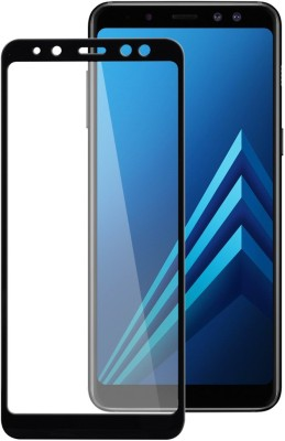 Kuber Edge To Edge Tempered Glass for Samsung galaxy A8 Plus 5D Glass(Pack of 1)