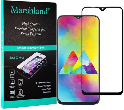 Marshland Edge To Edge Tempered Glass for Tempered Glass for Samsung Galaxy M20 (Black), 9D Full Glue Screen Protector, Anti Scratch Bubble Free(Pack of 1)