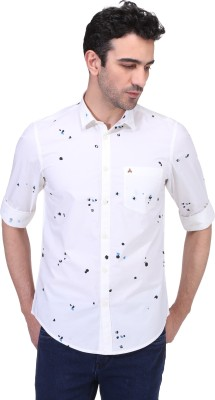 Risque Men Solid Casual White Shirt