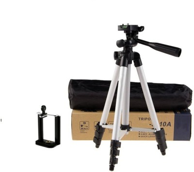 Doodads Mobile camera tripod stand Tripod(Silver and black, Supports Up to 1000 g) 1