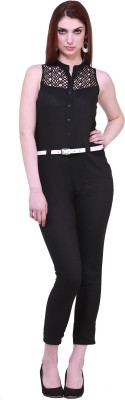 Cottinfab Solid Women Jumpsuit at flipkart