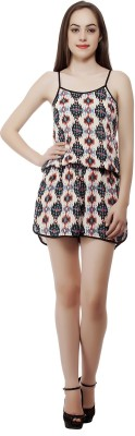 MansiCollections Printed Women's Jumpsuit  available at flipkart for Rs.399