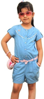 ShopperTree Solid Baby Girls Jumpsuit