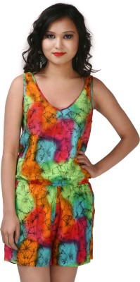 ShopperTree Printed Women Jumpsuit at flipkart