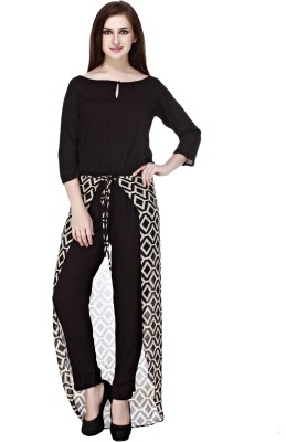 Cottinfab Solid, Printed Women's Jumpsuit