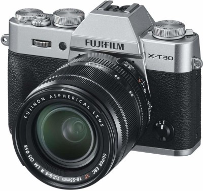 Fujifilm X-T30 with 18-55 Kit Lens Silver Mirrorless Camera kiy(Silver)
