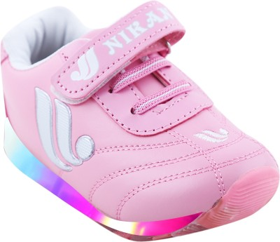 LNG Lifestyle Boys & Girls Velcro Dancing Shoes(Pink)