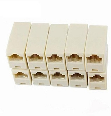 Tech X RJ45 8P8C Female to Female Network Lan Cable Coupler Adapter Connector Pack of 50 Lan Adapter 1000 Mbps Tech X LAN Adapters