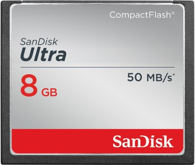 SanDisk Ultra 8 GB CompactFlash Memory Card Speed Up To 50MB/s 8  GB Ultra SDHC Class 10 50 MB/s Memory Card SanDisk Memory Cards