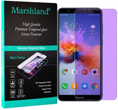 Marshland Tempered Glass Guard for Honor 7X Anti-Blue, 2.5d Round Edge Screen Protector Anti Scratch Bubble Free Tempered Glass(Pack of 1)