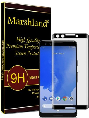Marshland Edge To Edge Tempered Glass for Screen Protector 5D Full Glue Anti Scratch Bubble Free Edge to Edge Smooth Touch Glass, Samsung Galaxy A8 Plus, black(Pack of 1)