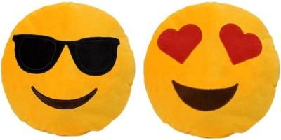 Kashish gift gallery Yellow Smiley Set of 2   30 cm Yellow Kashish gift gallery Soft Toys