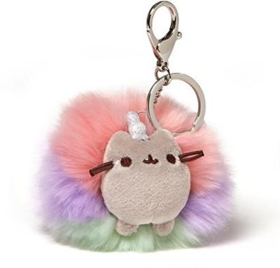 GUND Pusheen Rainbow Unicorn Cat Plush Pom Deluxe Keychain Multicolor 4\ Multicolor GUND Soft Toys