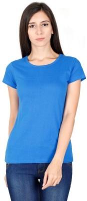 Mini Mini Solid Women Round Neck Blue T Shirt