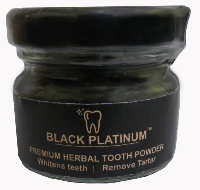 Black Platinum Premium Herbal Tooth Powder - Pack of Three(15 g, Pack of 3)