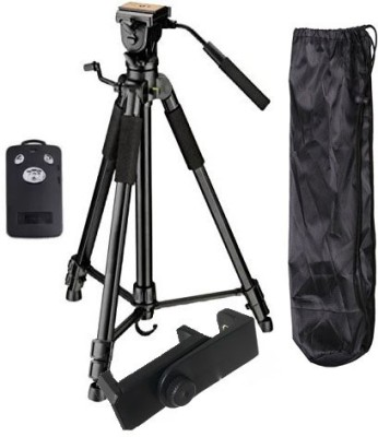 BUY SURETY Tripod-3388 Adjustable Tripod(Black, Supports Up to 1500 g) 1