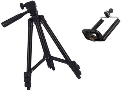 Maupin Tripod 3120 with Mobile Clip Holder & Carry Bag Tripod(Black, Supports Up to 500 g) 1
