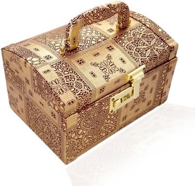 Wenux Makeup/ Jewellery Box Makeup Box Vanity Box(Gold)
