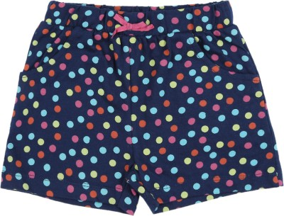 Pantaloons Baby Short For Girls Casual Printed Cotton Blend(Blue, Pack of 1)