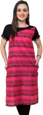 Pannkh Casual Printed Women Kurti(Pink) at flipkart