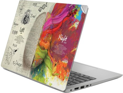 GADGETS WRAP GWSG-2650 Printed Top Only Brain left right Vinyl Laptop Decal 14