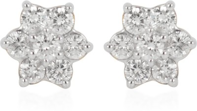 RAKAM Yellow Gold 18kt Diamond Stud Earring