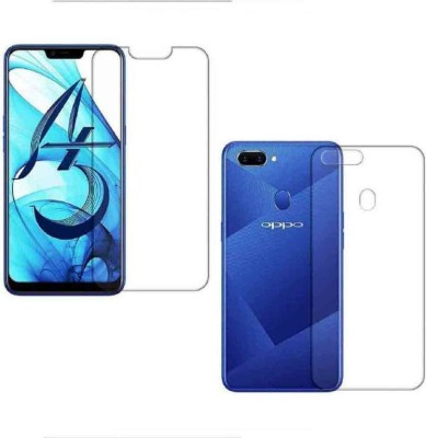 TECHCARE Front and Back Screen Guard for OPPO A5, Oppo A3s, Realme 2, Realme C1(Pack of 1)