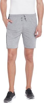 Duke Solid Men Grey Bermuda Shorts