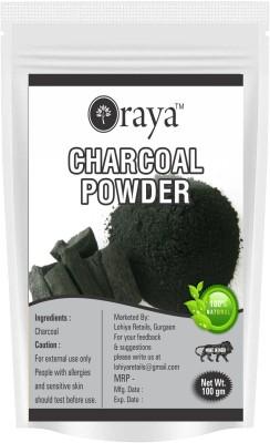 ORAYA 100% Natural Activated Charcoal Teeth Whitening Powder & Face, Hair -(100gm)(100 g)