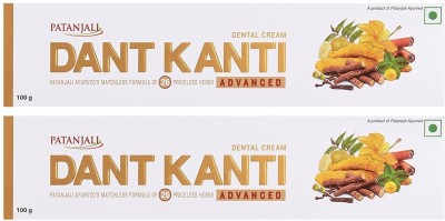 Patanjali Dant Kanti Advanced Toothpaste (100GM, Pack of 2)