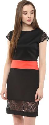 Pannkh Casual Sleeveless Printed Women Black, White Top at flipkart