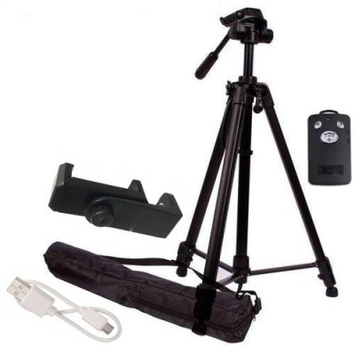 BUY SURETY Good Quality Adjustable Tripod(Black, Supports Up to 1500 g) 1