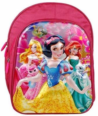 """Priceless Deals Trendy 5D Embossed Disney Princess Cartoon Characters Printed School Bags (Pink, 16"""") Waterproof School Bag(Pink, 36 L)"""
