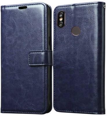Spicesun Flip Cover for Mi Redmi Note 5 Pro(Blue, Shock Proof)